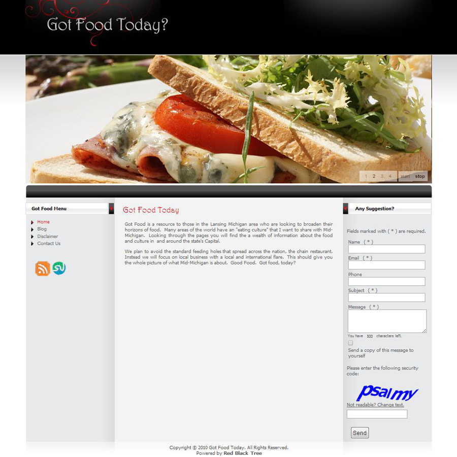 Got Food Today Homepage