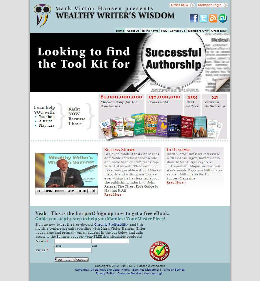 Wealthy Writers Wisdom Homepage